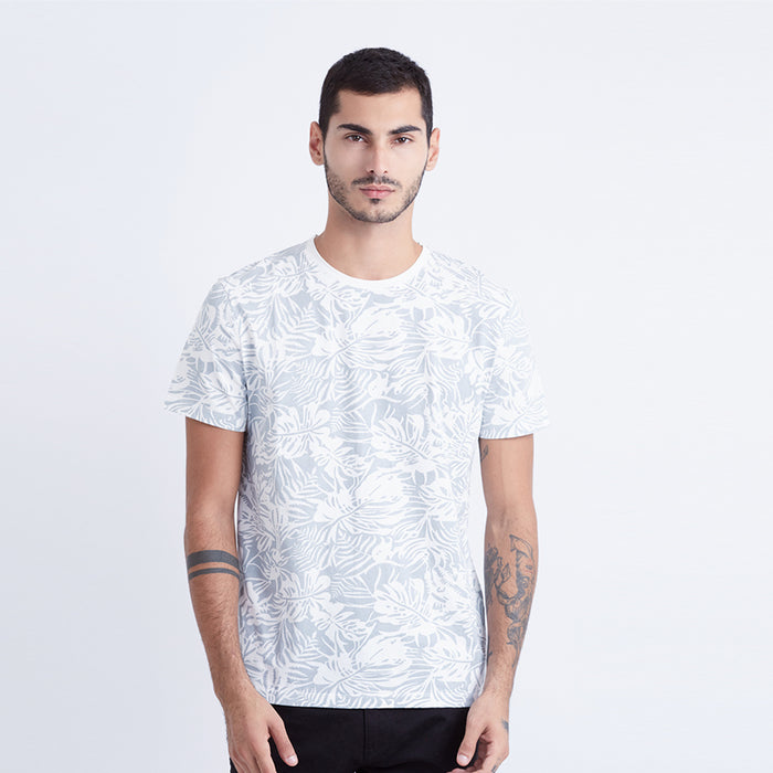 Leaf Graphic S/S Tee - Grey