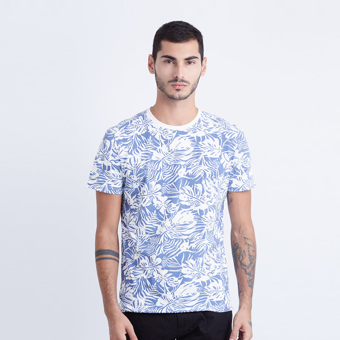 Leaf Graphic S/S Tee - Navy