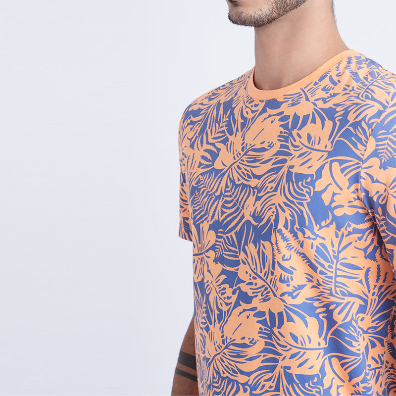 Leaf Graphic S/S Tee - Orange
