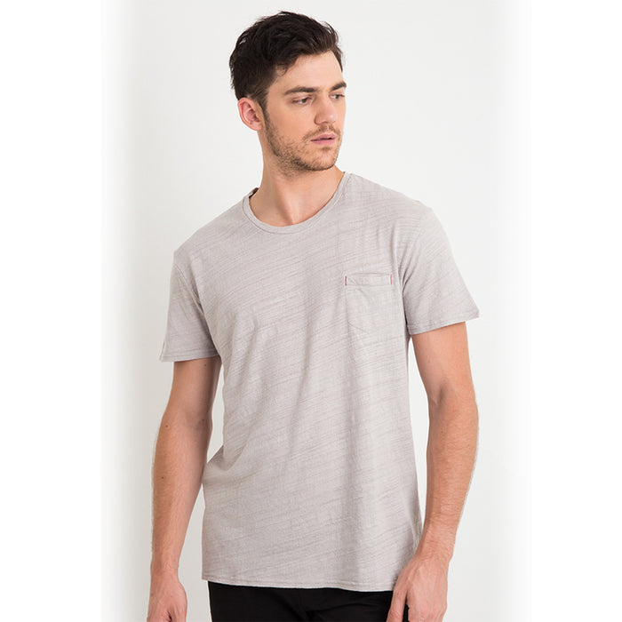 Rayon Pocket S/S Tee - Grey