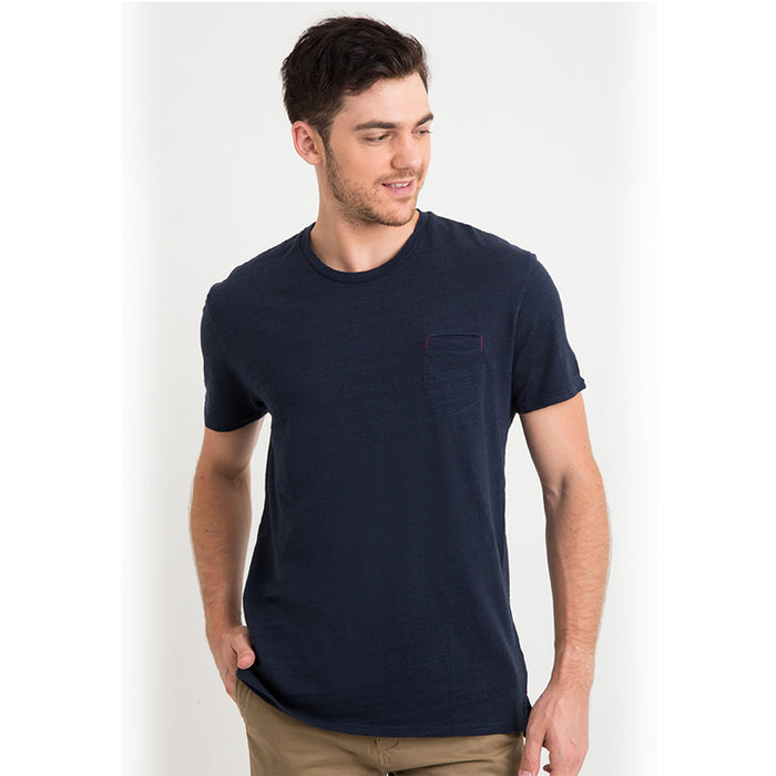 Rayon Pocket S/S Tee - Navy