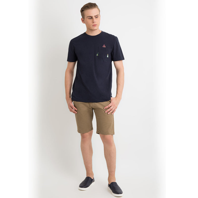 Tri-Angle Pocket S/S Tee - Navy