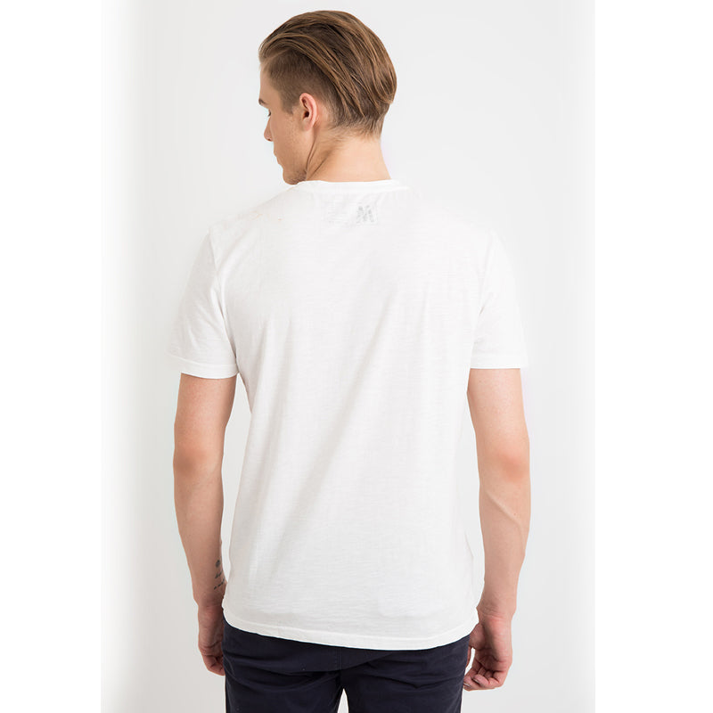 Tri-Angle Pocket S/S Tee - White