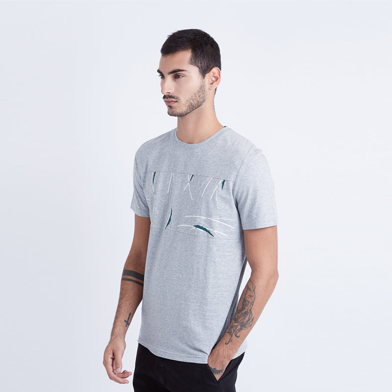 Tree Trunk S/S Tee - Grey