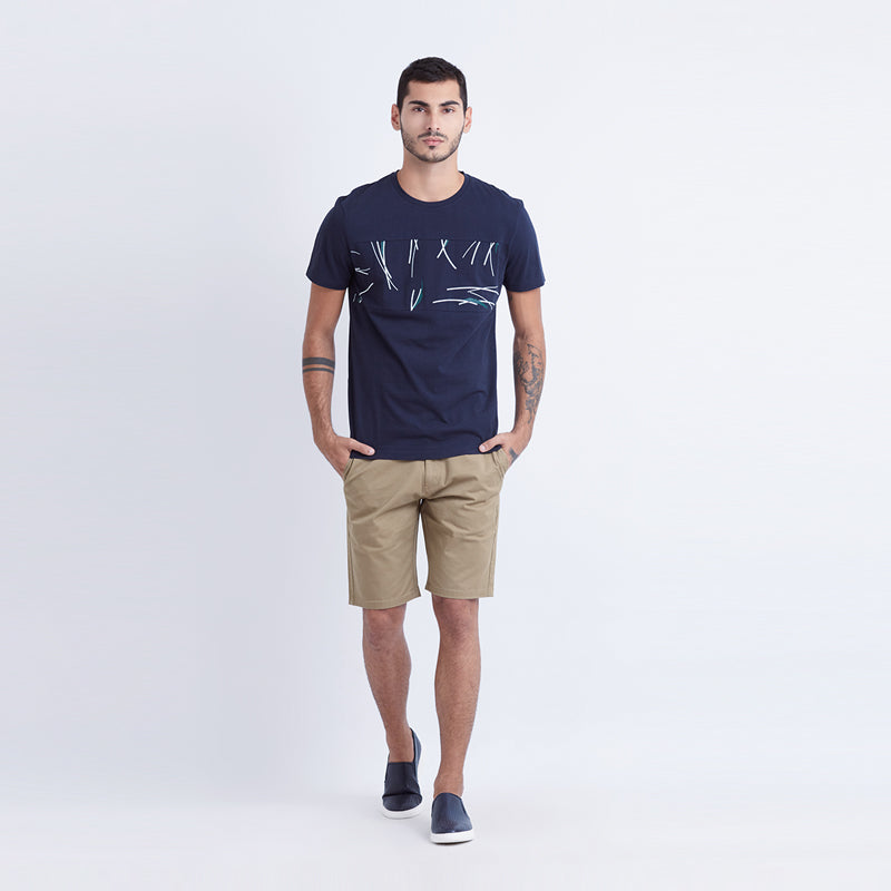 Tree Trunk S/S Tee - Navy