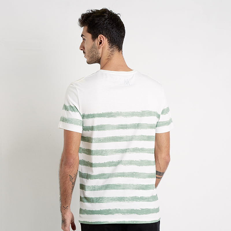 Small Stripes S/S Tee - Green