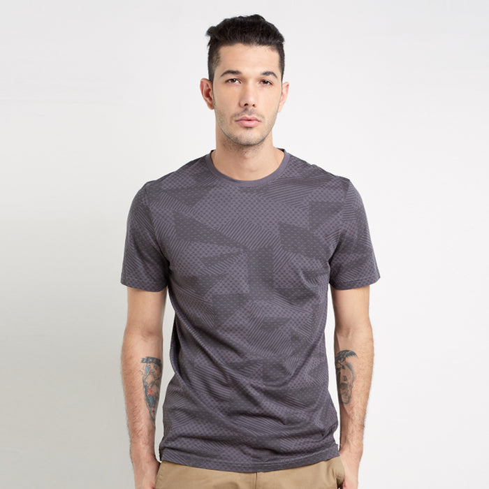 Full Abstract S/S Tee - Dark Grey
