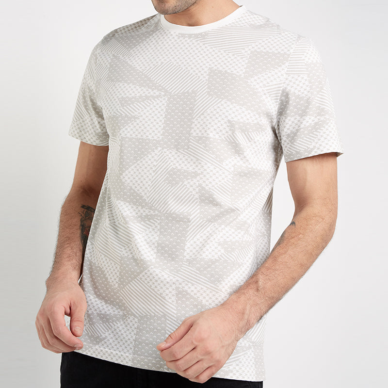 Full Abstract S/S Tee - White