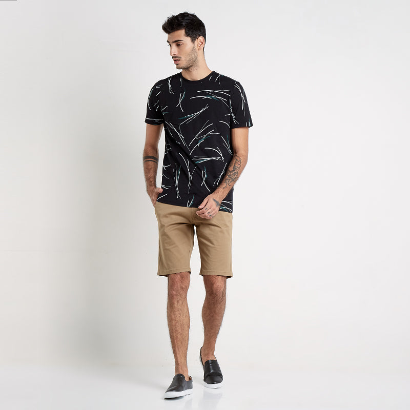 Printed Trunk S/S Tee - Black