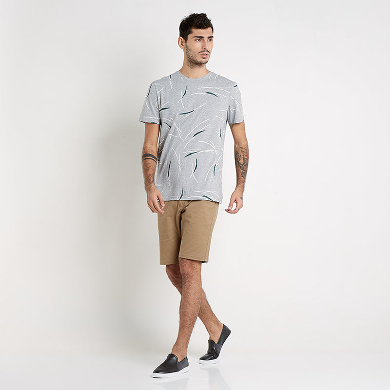 Printed Trunk S/S Tee - Grey