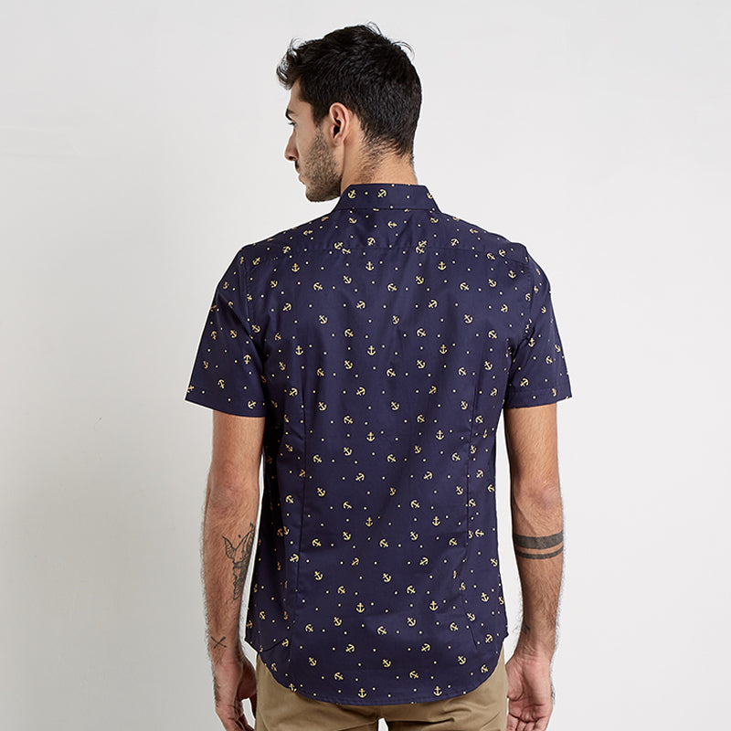 Anchor Dot 02 S/S Shirt - Blue