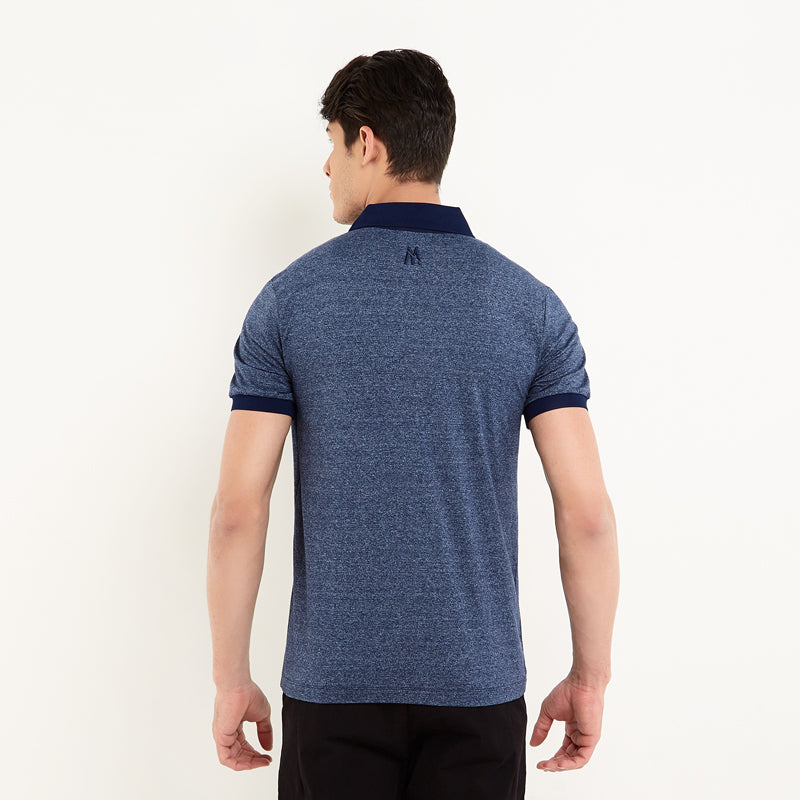 Contrast Pocket Polo - Navy
