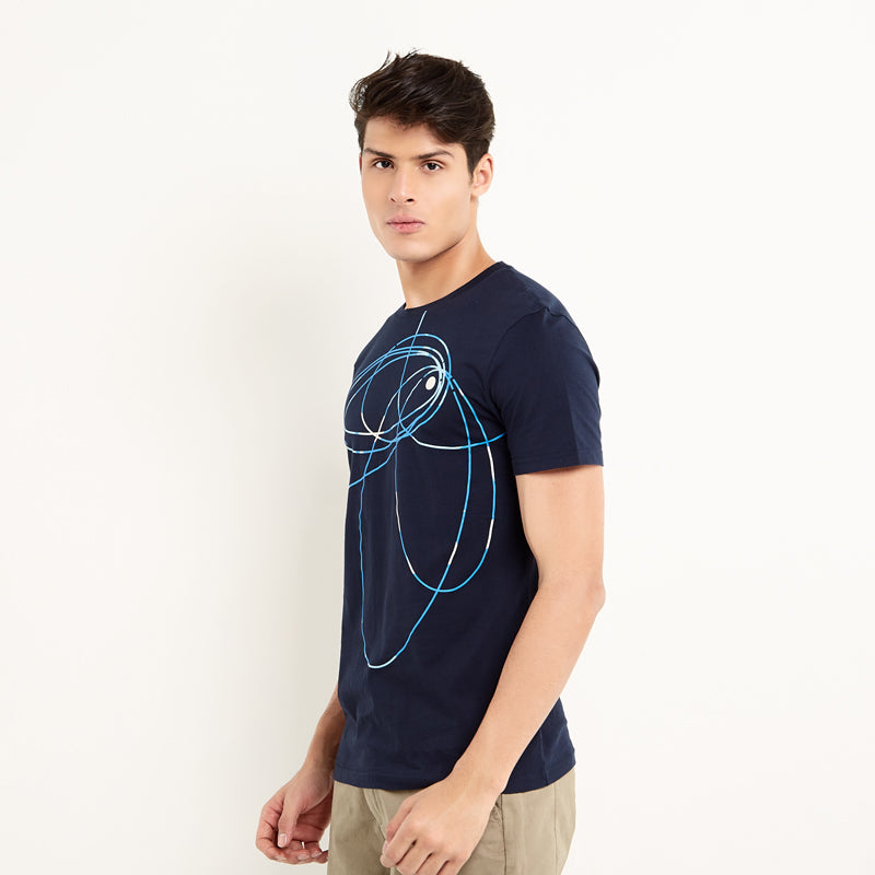 Abstract 004 S/S Tee - Navy