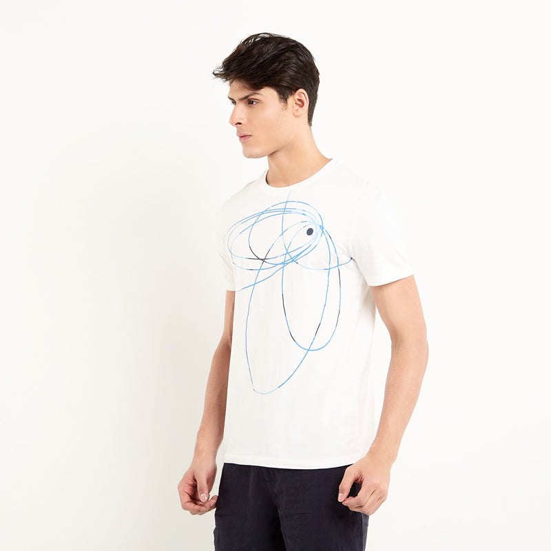 Abstract 004 S/S Tee - White