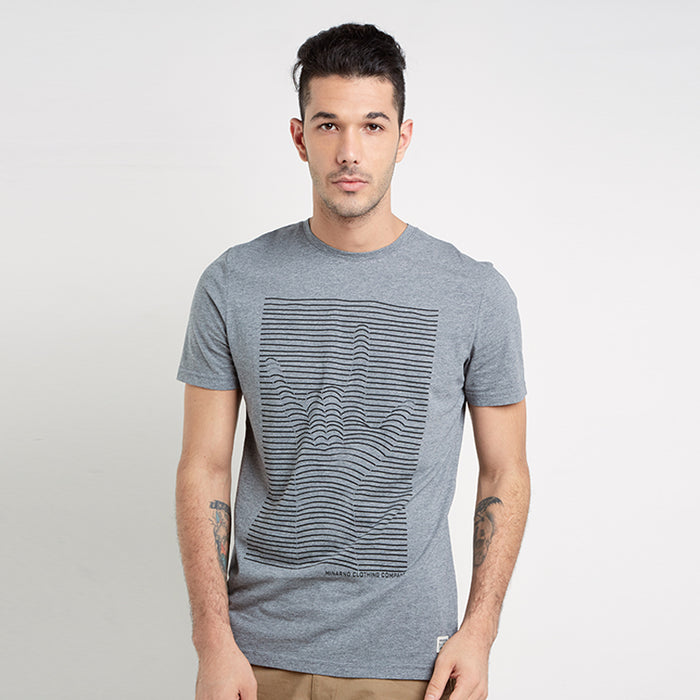 Peace Stripes S/S Tee - Grey