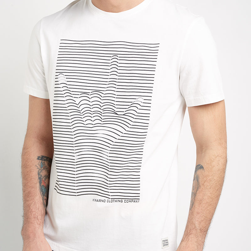 Peace Stripes S/S Tee - White