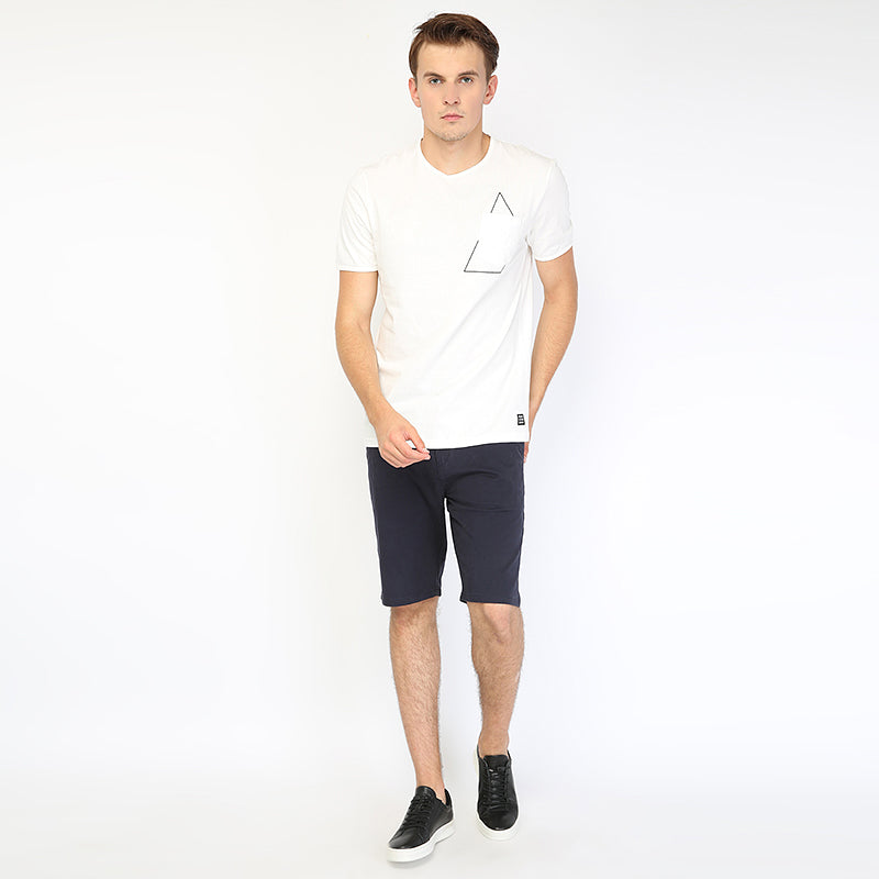 Shape Spot Pocket S/S Tee - White
