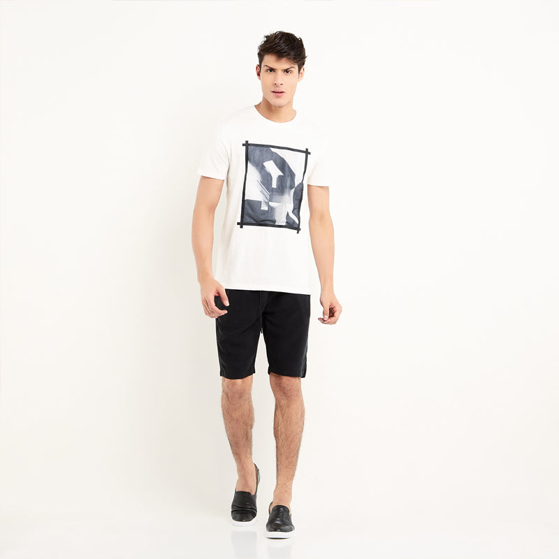 Abstract 005 S/S Tee - White
