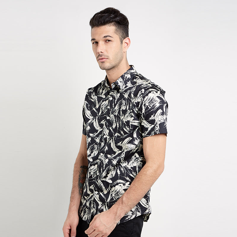Abstract 03 S/S Shirt - Black