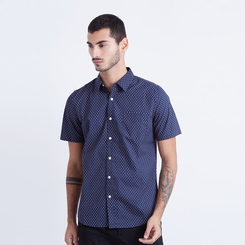 Diamonds S/S Shirt - Navy