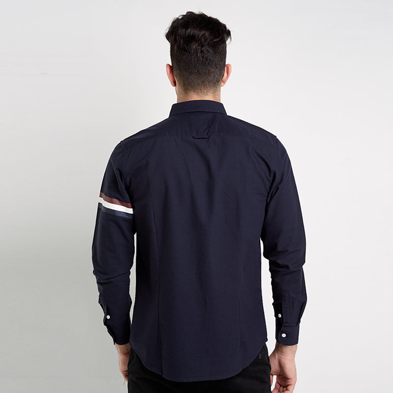Tri-Stripes L/S Shirt - Navy