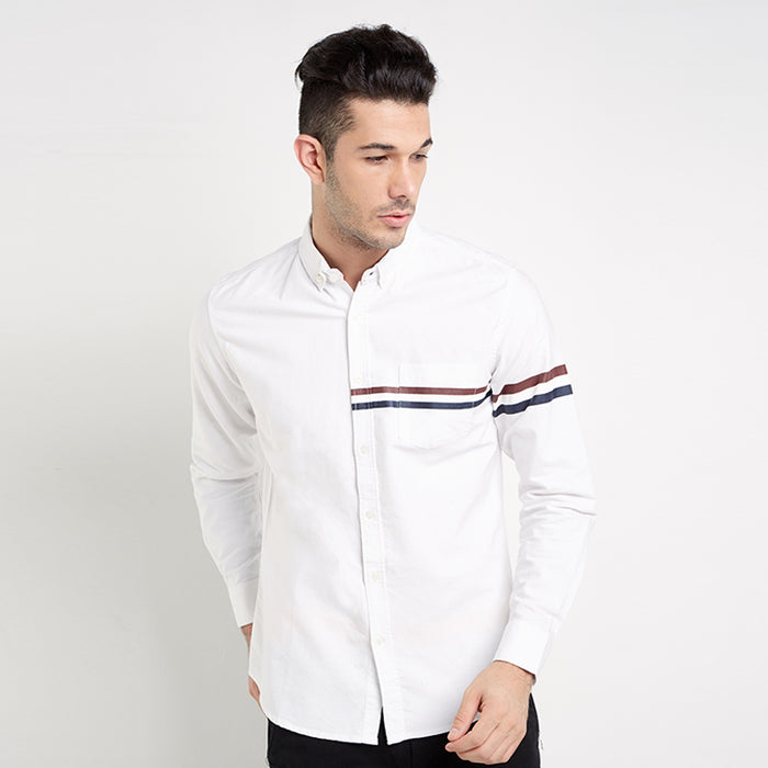 Tri-Stripes L/S Shirt - White