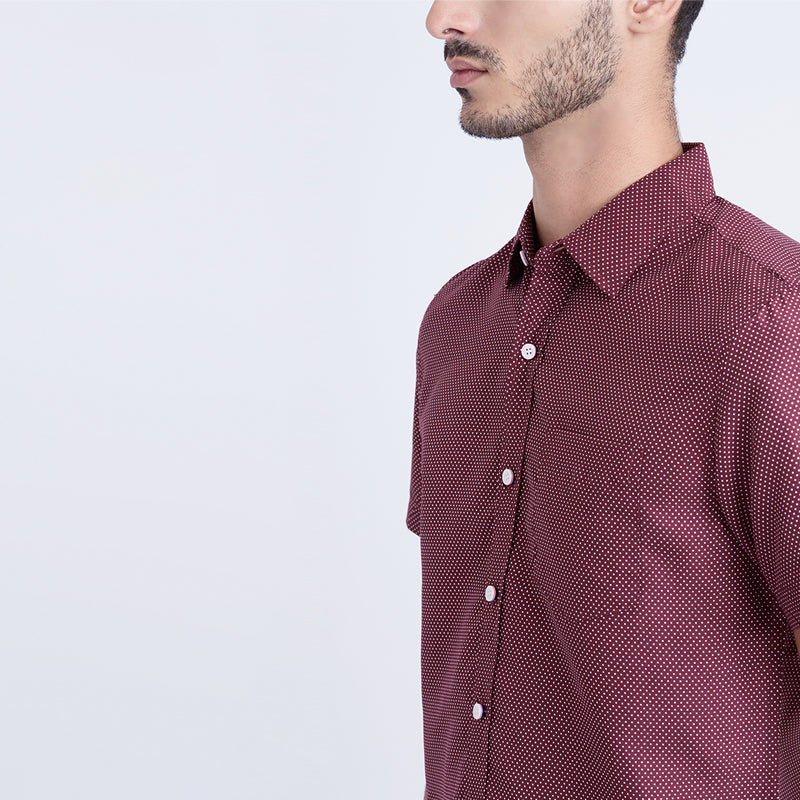 Dotted 06 S/S Shirt - Red