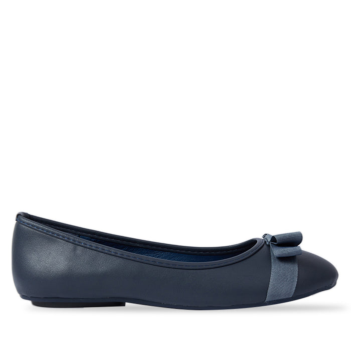 Woman Yasmine Flats - Navy