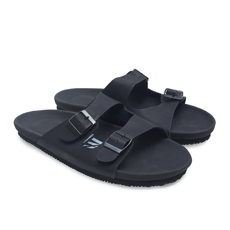 Arka Double Strap Sandals - Black