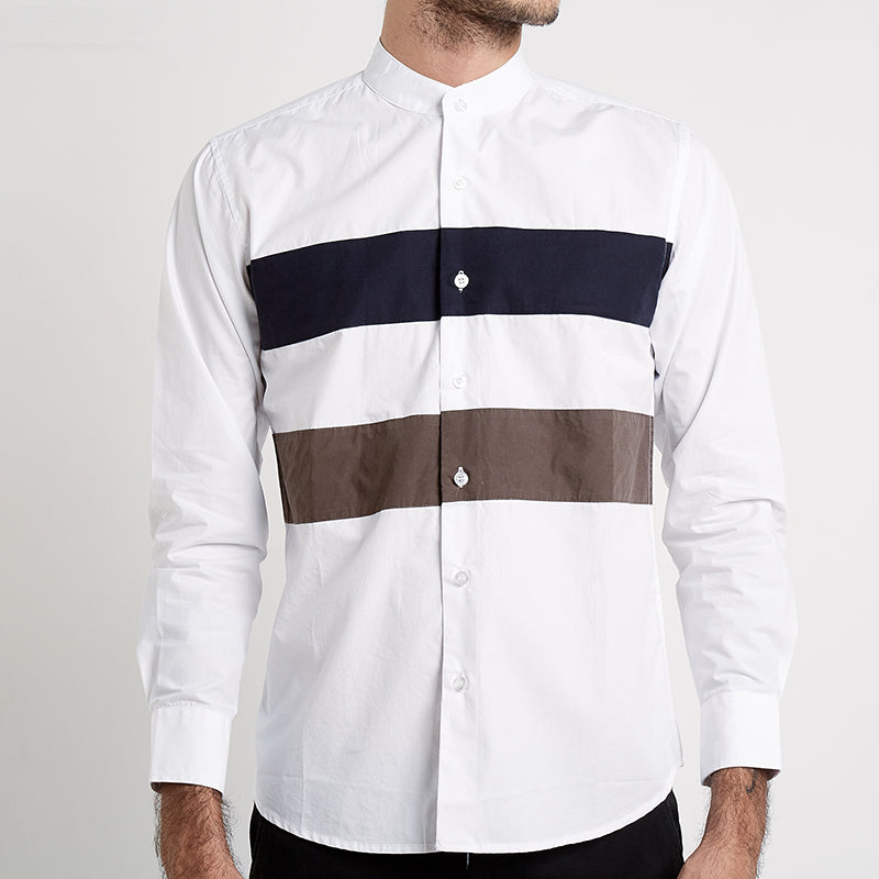 Striped Koko L/S Shirt - White