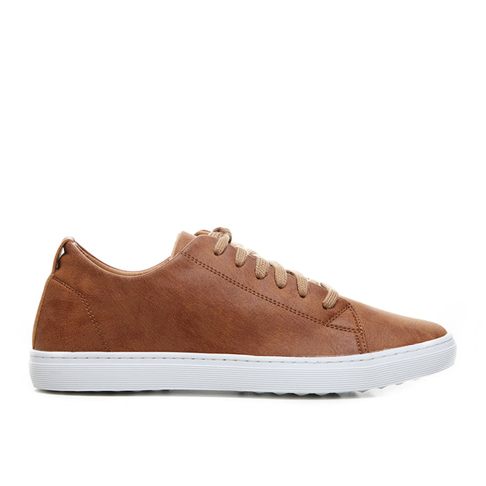 Washed Leather Sneakers 7078 - Brown