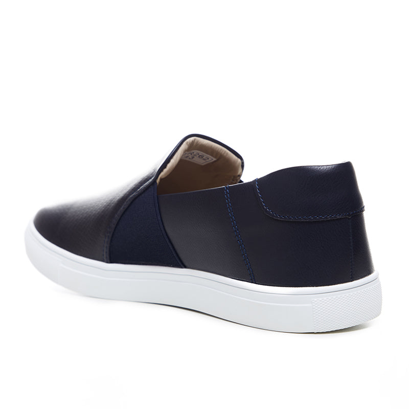 Leather Slip-On 262 - Navy