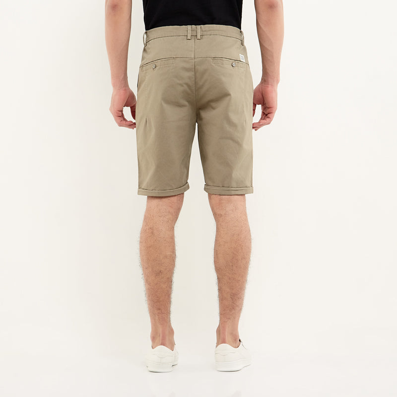 Regular Chino Shorts - Brown