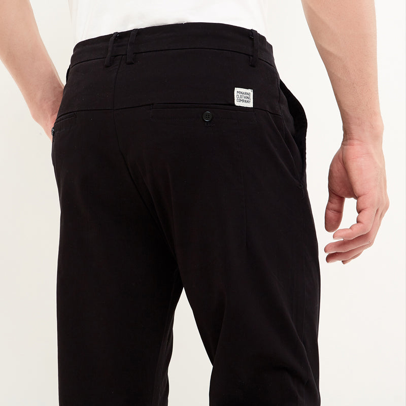 Straight Chino Pants - Black