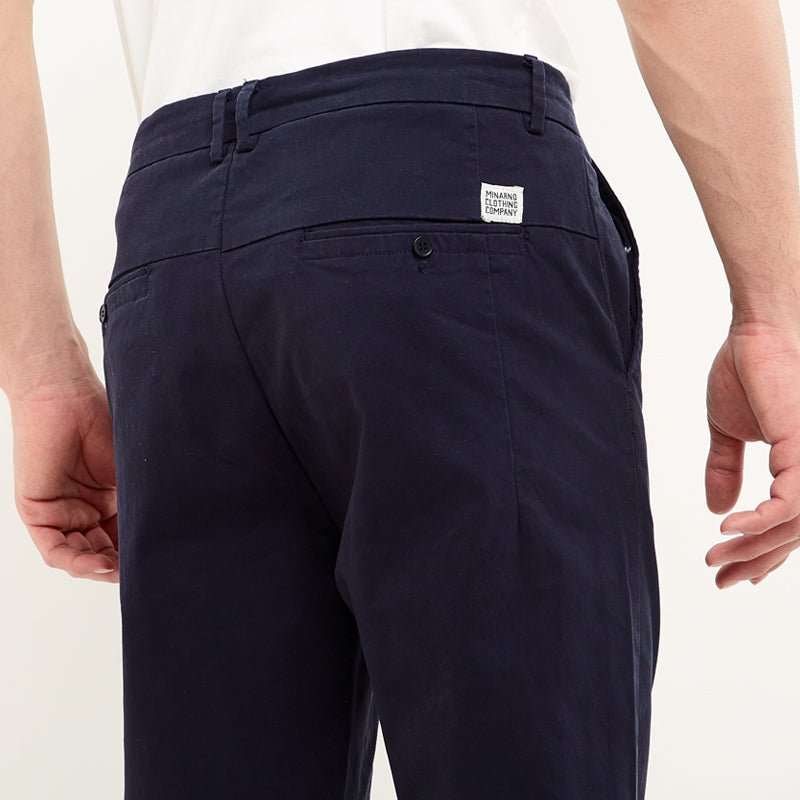 Straight Chino Pants - Navy