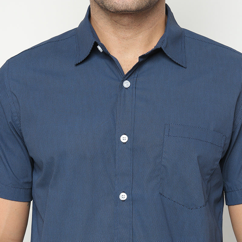 Plain 001 S/S Shirt - Navy