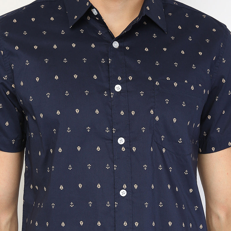 Boat Anchor 01 S/S Shirt - Navy