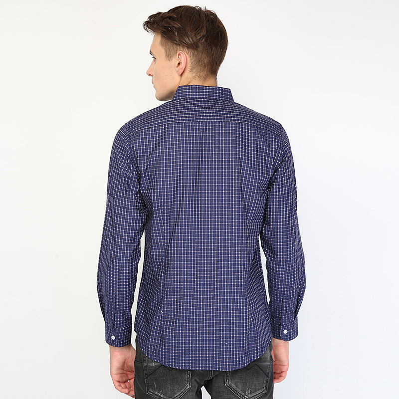 Plaid 03 L/S Shirt - Blue