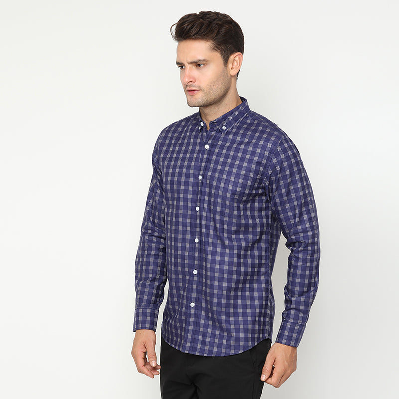 Plaid 04 L/S Shirt - Blue