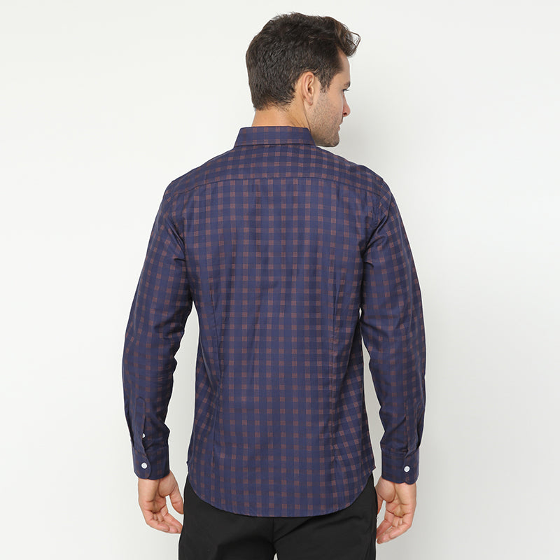 Plaid 04 L/S Shirt - Navy