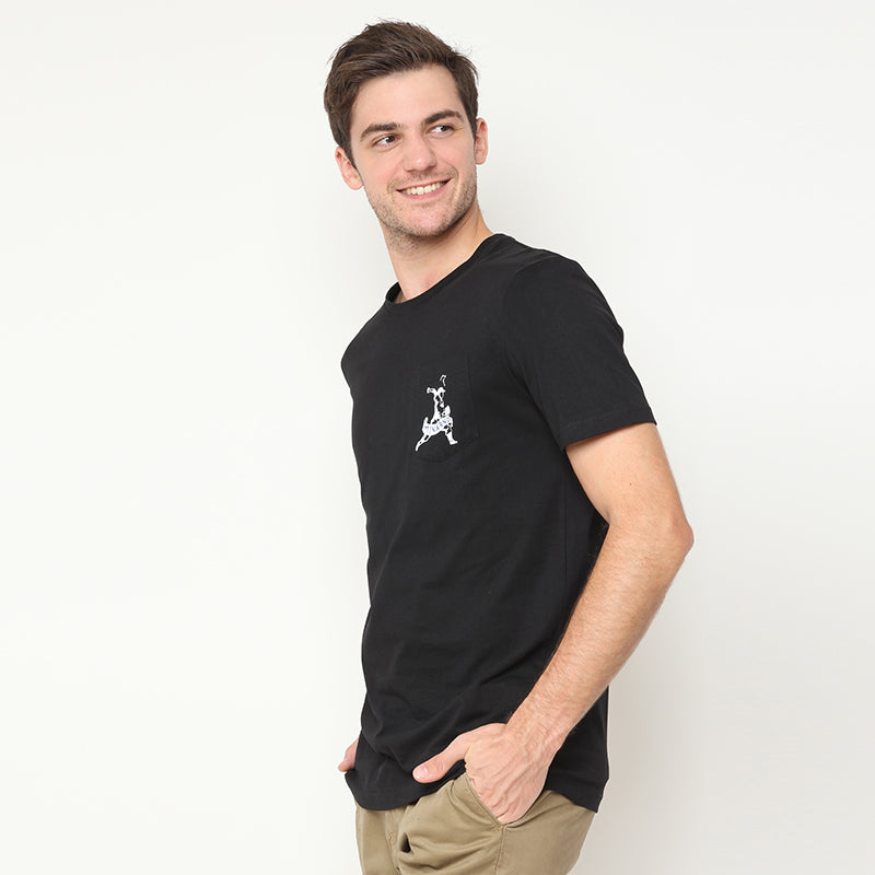 Baseball Pocket S/S Tee - Black