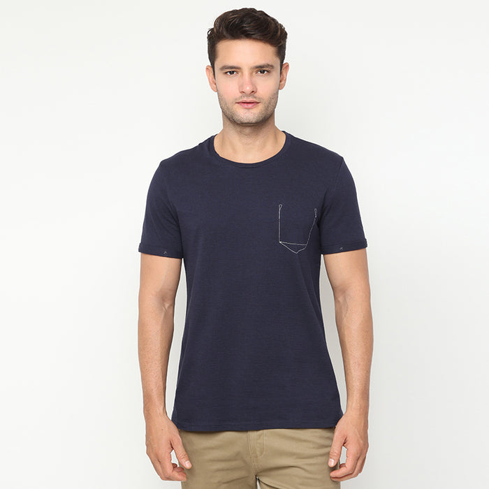 Pocket Lining S/S Tee - Navy