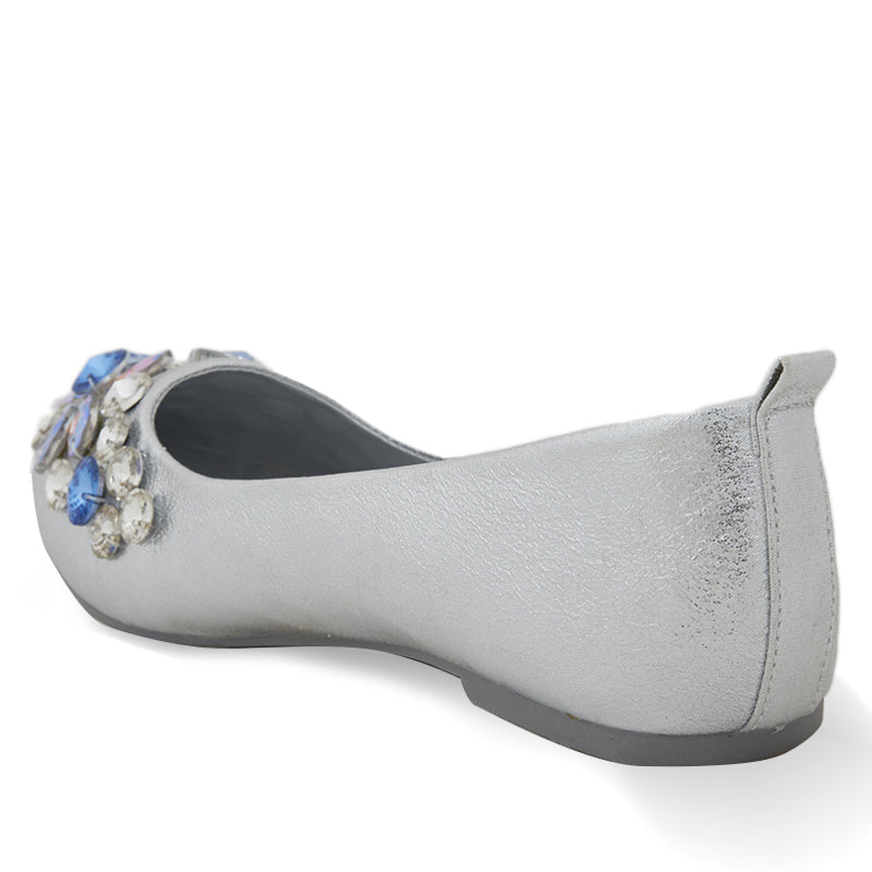 Woman Alice Flats - Silver