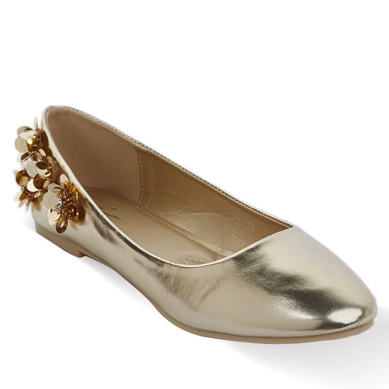 Woman Carmel Flats - Gold