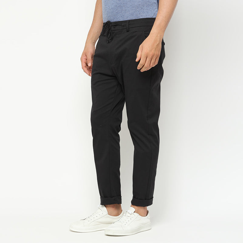 Stretch Cotton Pants - Black