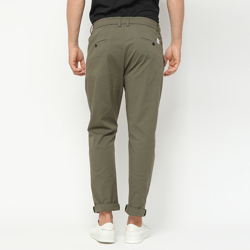 Stretch Cotton Pants - Green