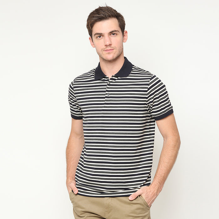 Stripes Polo - Grey