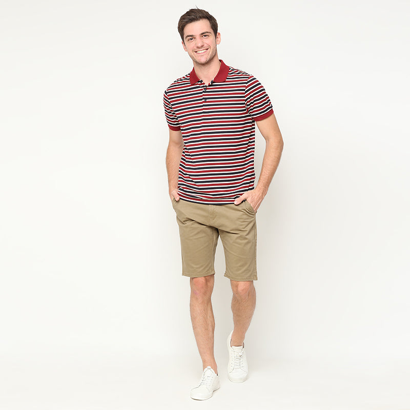 Stripes Polo - Red