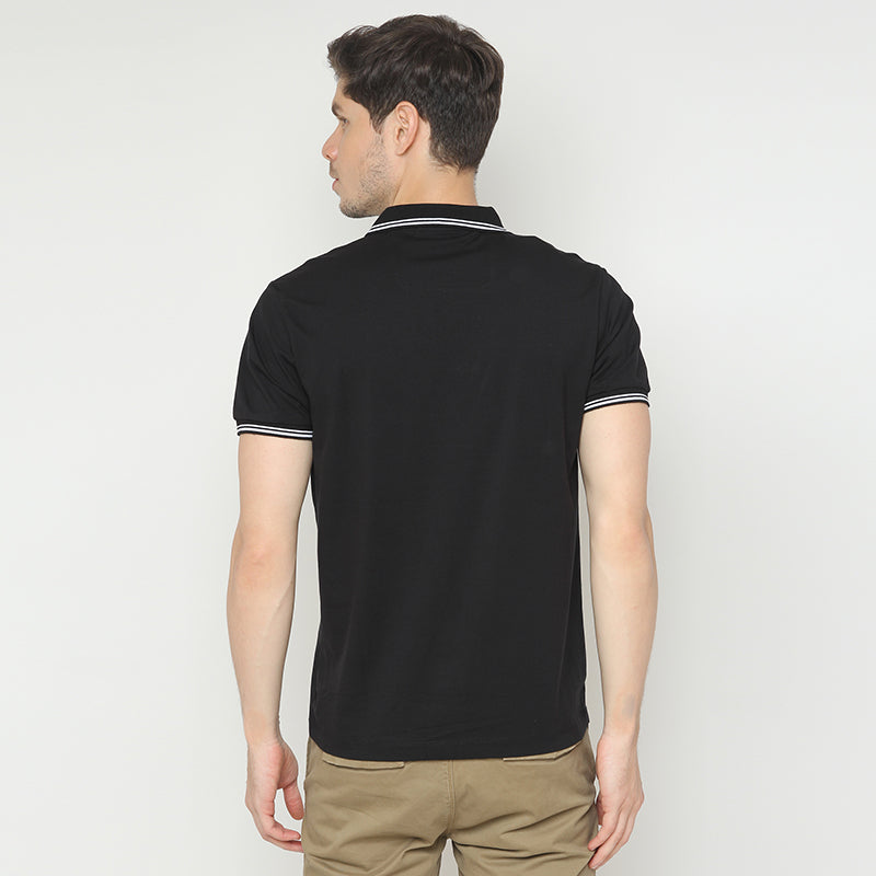 Big Stripe Polo - Black