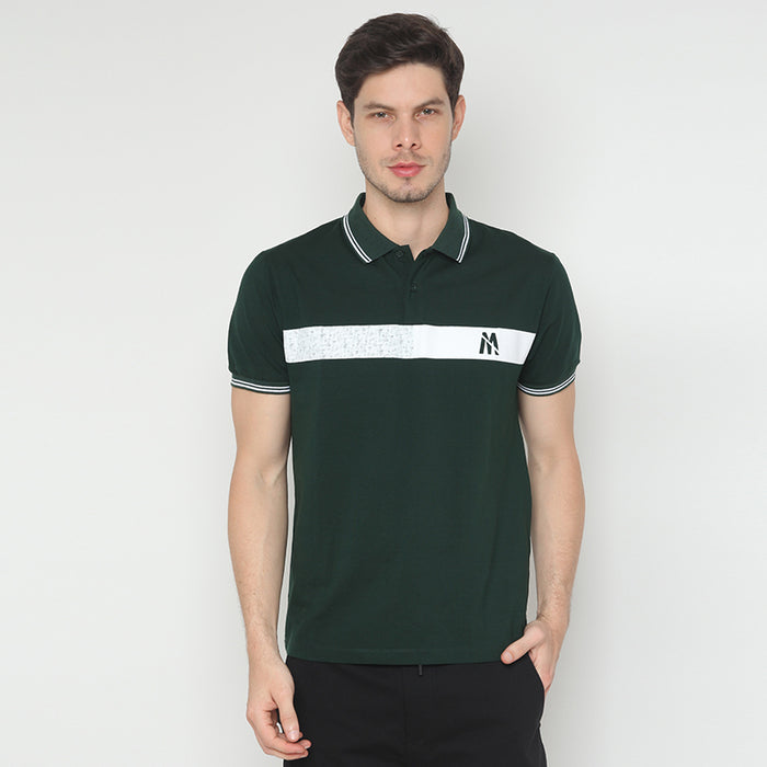 Big Stripe Polo - Green